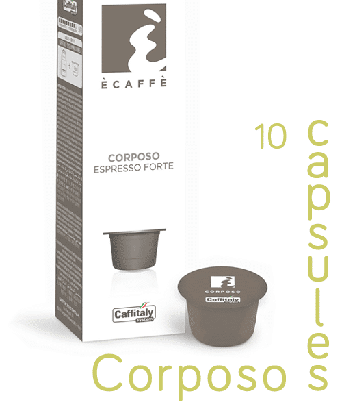 Ecaffe 10 Coffee Capsules Corposo