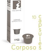 Ecaffe 10 Coffee Capsules Corposo