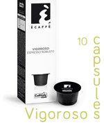 Ecaffe 10 Coffee Capsules Vigoroso